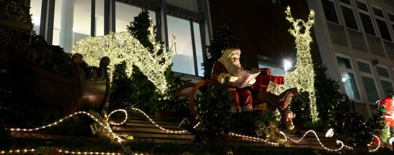 Deko auf dem Weihnachtsmarkt in Stuttgart