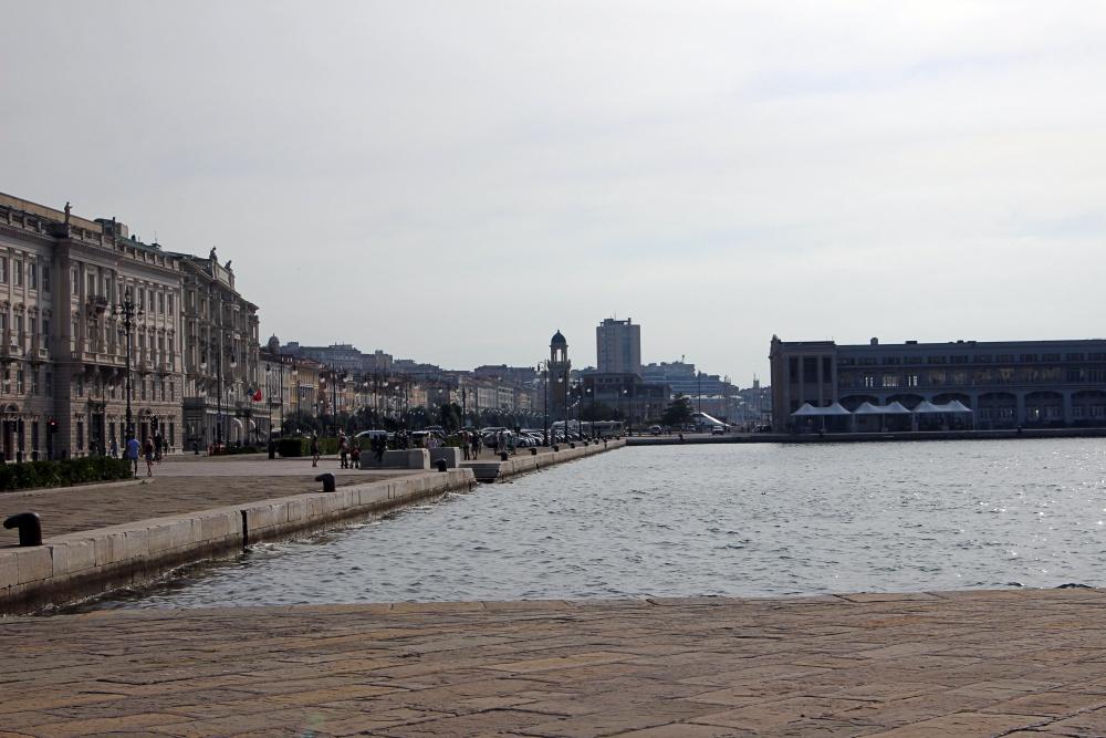 Der Hafen von Trieste.