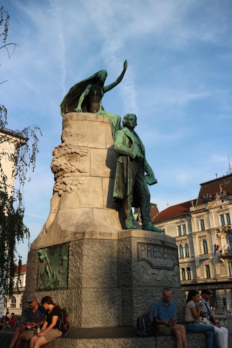 Denkmal für den Dichter Preseren