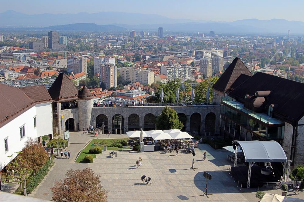 Blick auf Ljubljana von der Burg