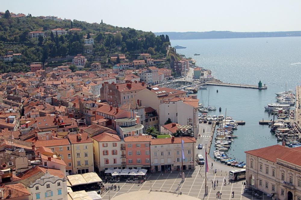 Der Hafen von Piran