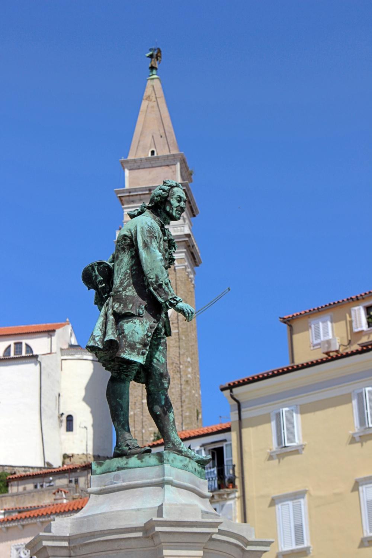 Statue von Tartini in Piran