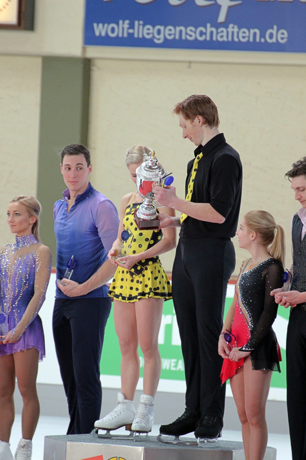 The podium - Massot looks like he really wants this trophy
