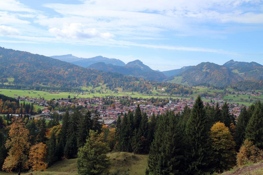 Blick auf Oberstdorf