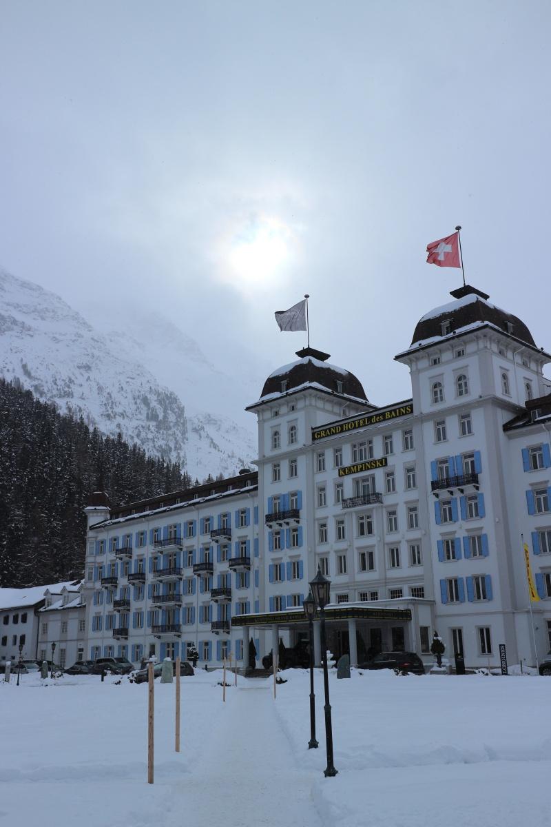 Das Grand Hotel Kempinski in St. Moritz