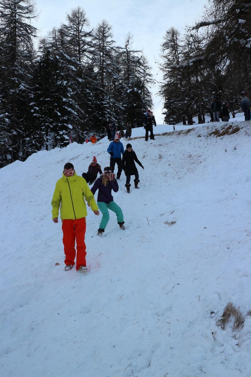 St. Moritz Ski WM Zielgelände