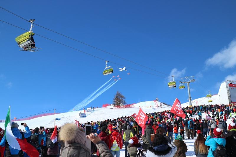 St. Moritz Ski WM Flugshow
