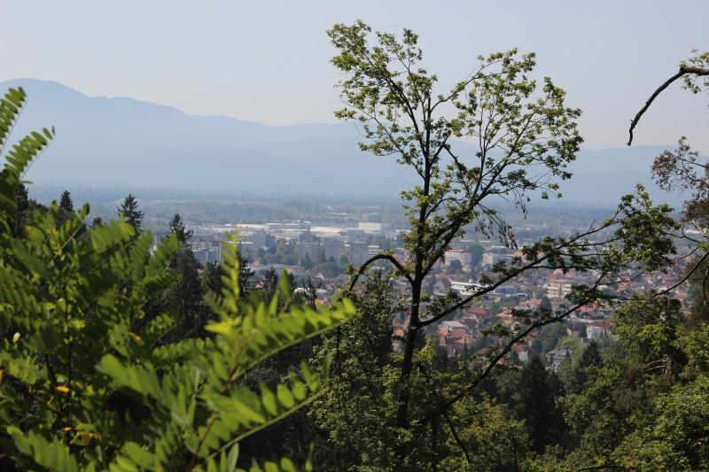 Blick auf Ljubljana vom Tivoli Park
