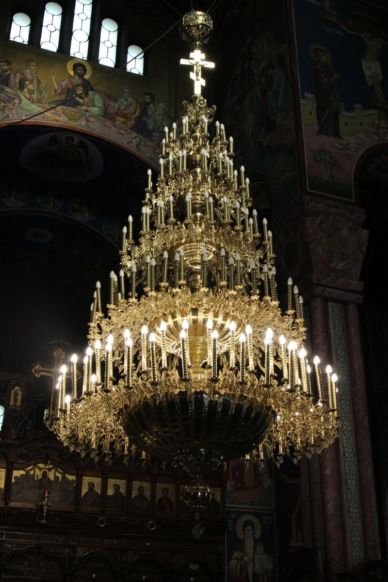 Kronleuchter in der orthodoxen Kirche