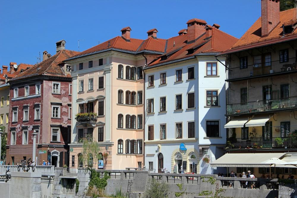 Häuserzeile in Ljubljana