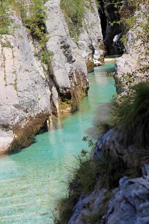 Emerald River im Soča-Tal
