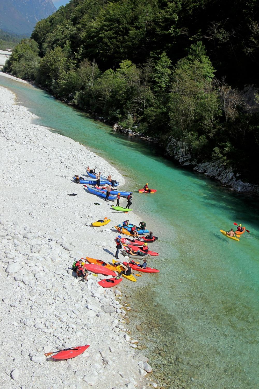 Rafting im Soča-Tal