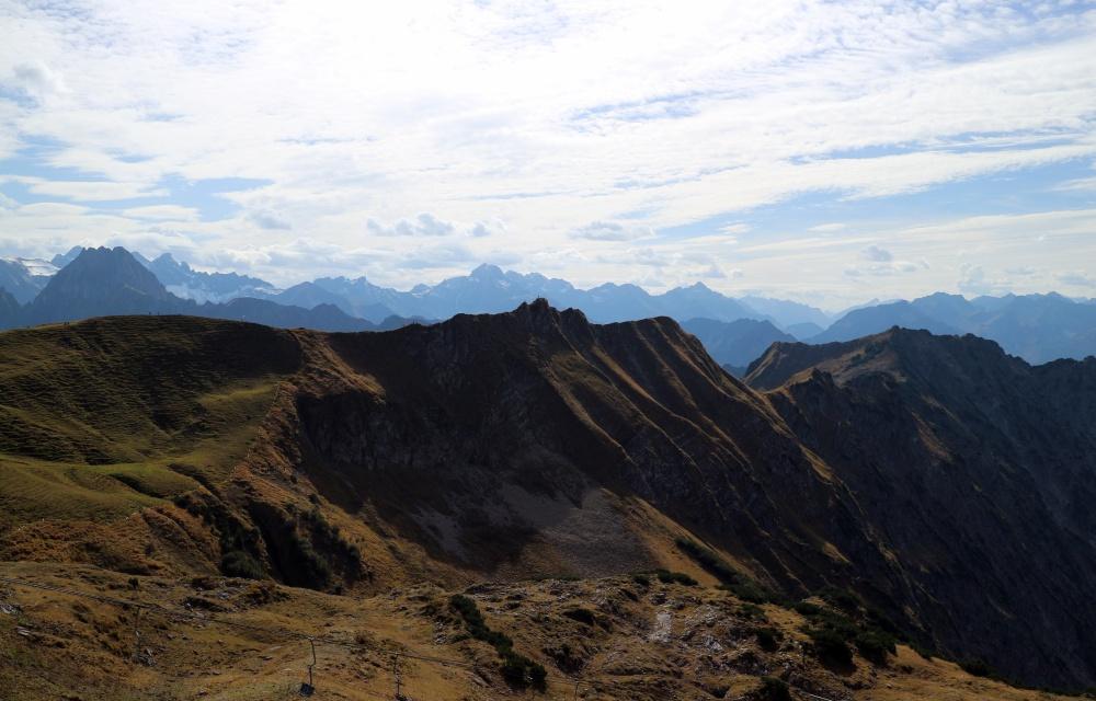 Blick vom Nebelhorn - bei Sonnenschein