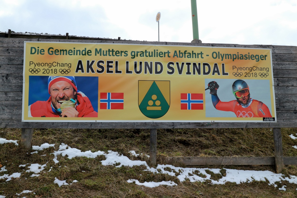 Plakat Svindal Olympiasieger