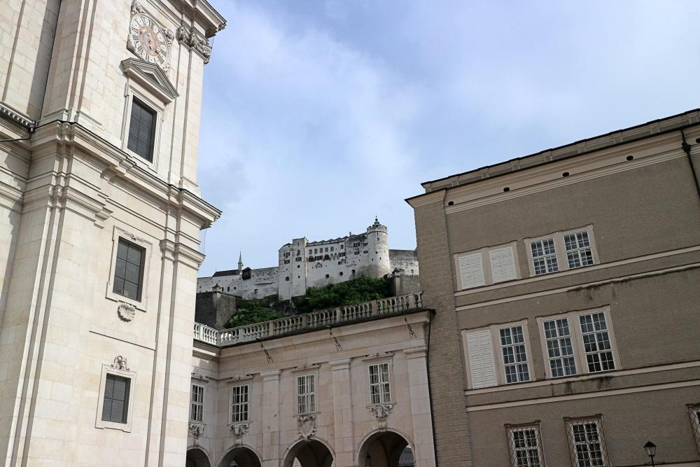 Blick auf die Festung von Salzburg