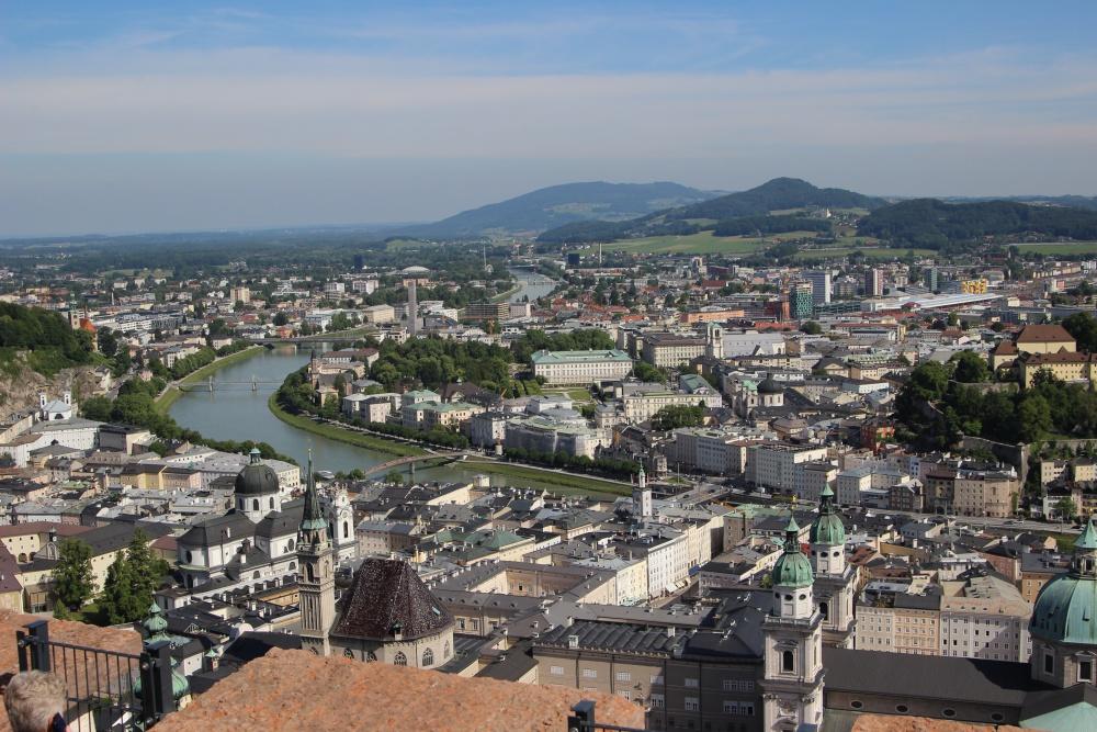 Blick von der Festung auf Salzburg