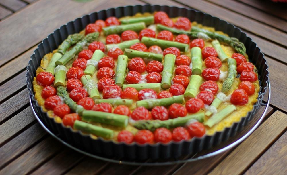 Polentatarte mit Tomaten