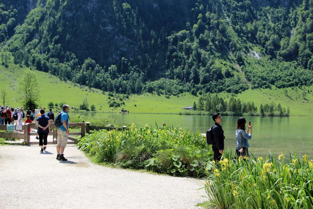 Touristenmassen am Königssee