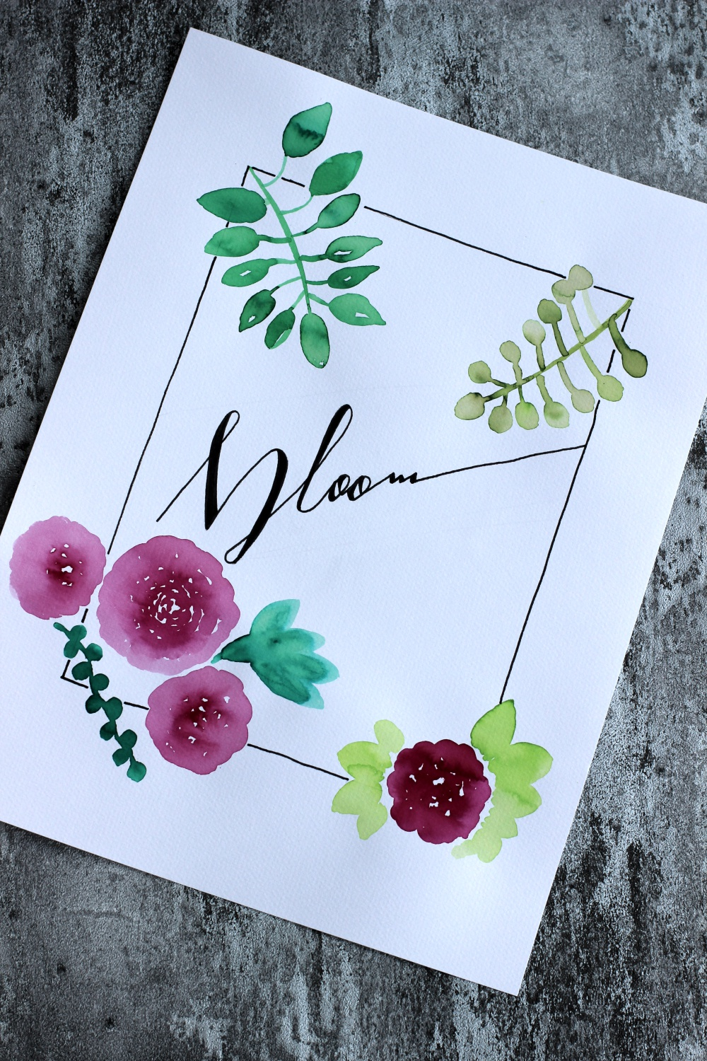 May & Berry Workshop Watercolor und Lettering