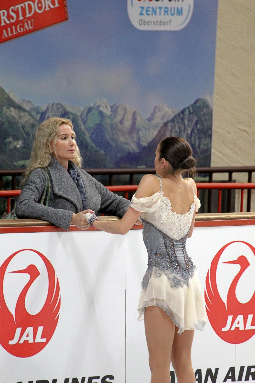 Alina Zagitova with coach