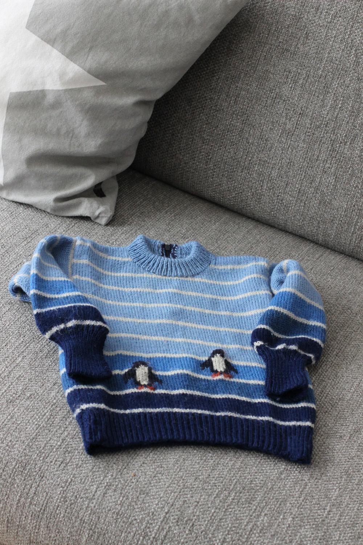 selbstgestrickter Pullover