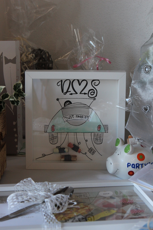 Hochzeitsgeschenk_Lettering_Watercolor Auto