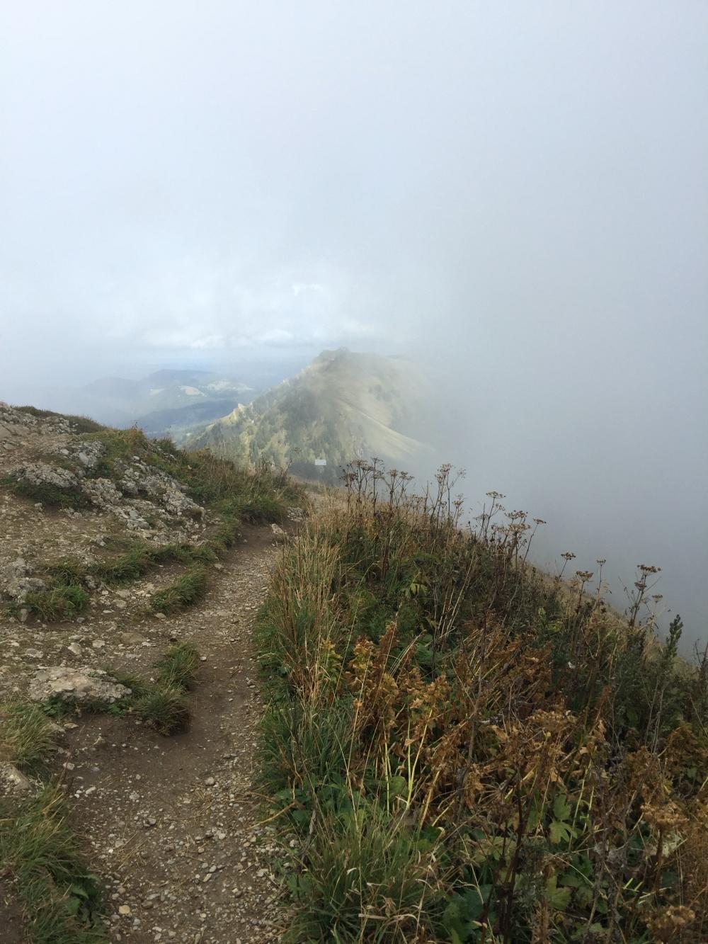 Hochgrat im Nebel