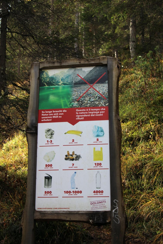 Pragser Wildsee Vermüllung