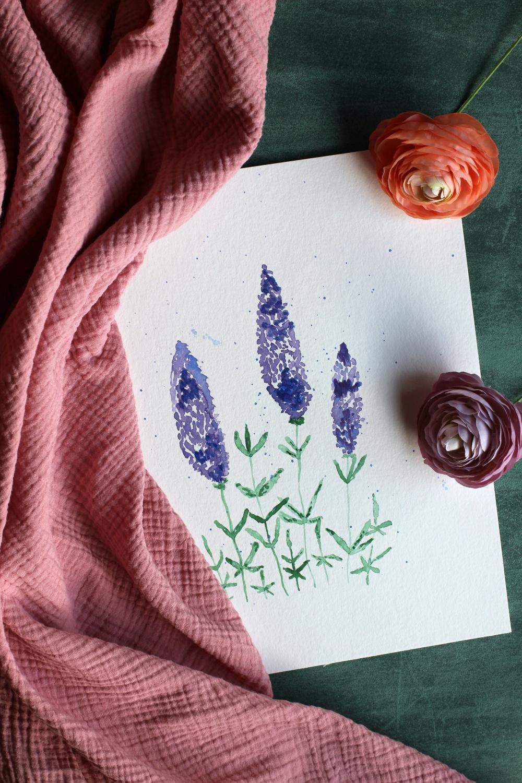 Lavendel Aquarell Tutorial May & Berry