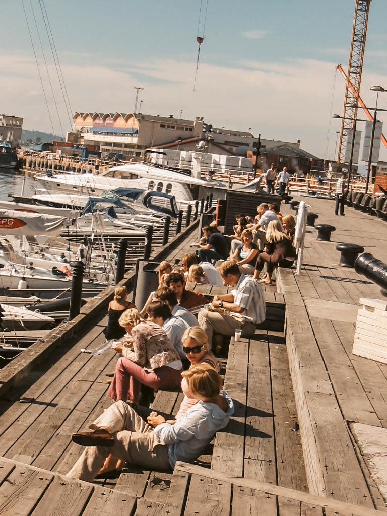 Oslo Aker Brygge Norwegen-Liebe