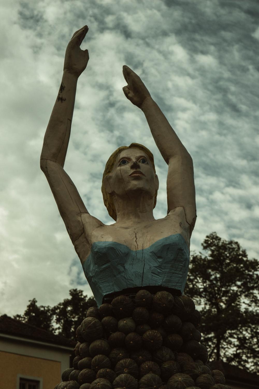 Kürbisausstellung Kürbis Blühendes Barock Ballerina
