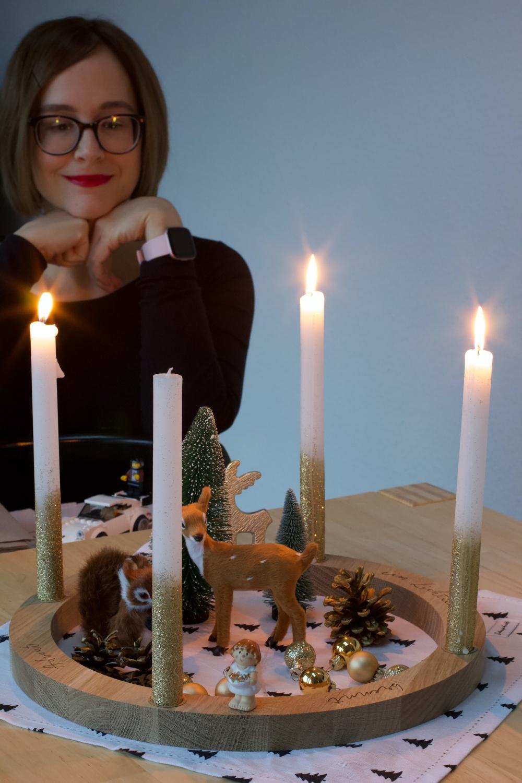 Weihnachtsstimmung - ich und mein Adventskranz