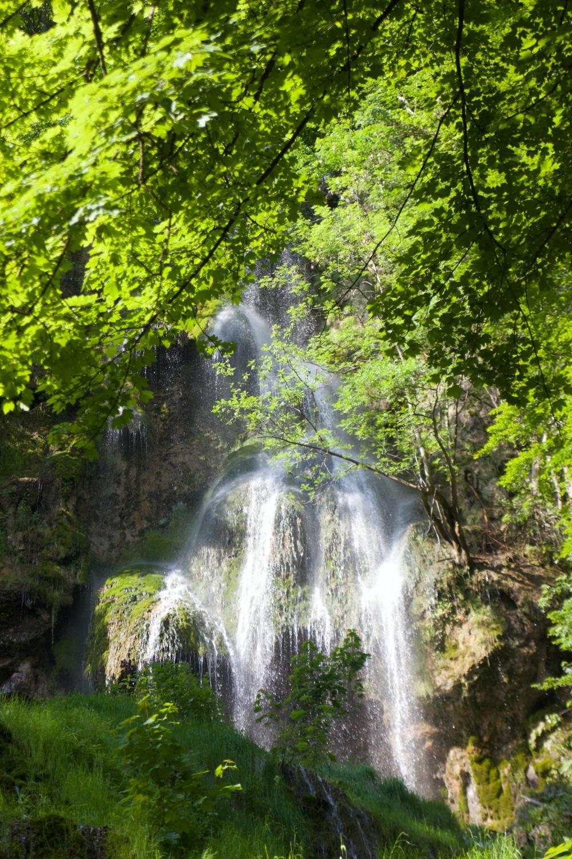 Solo wandern Wasserfallsteig Bad Urach Uracher Wasserfall